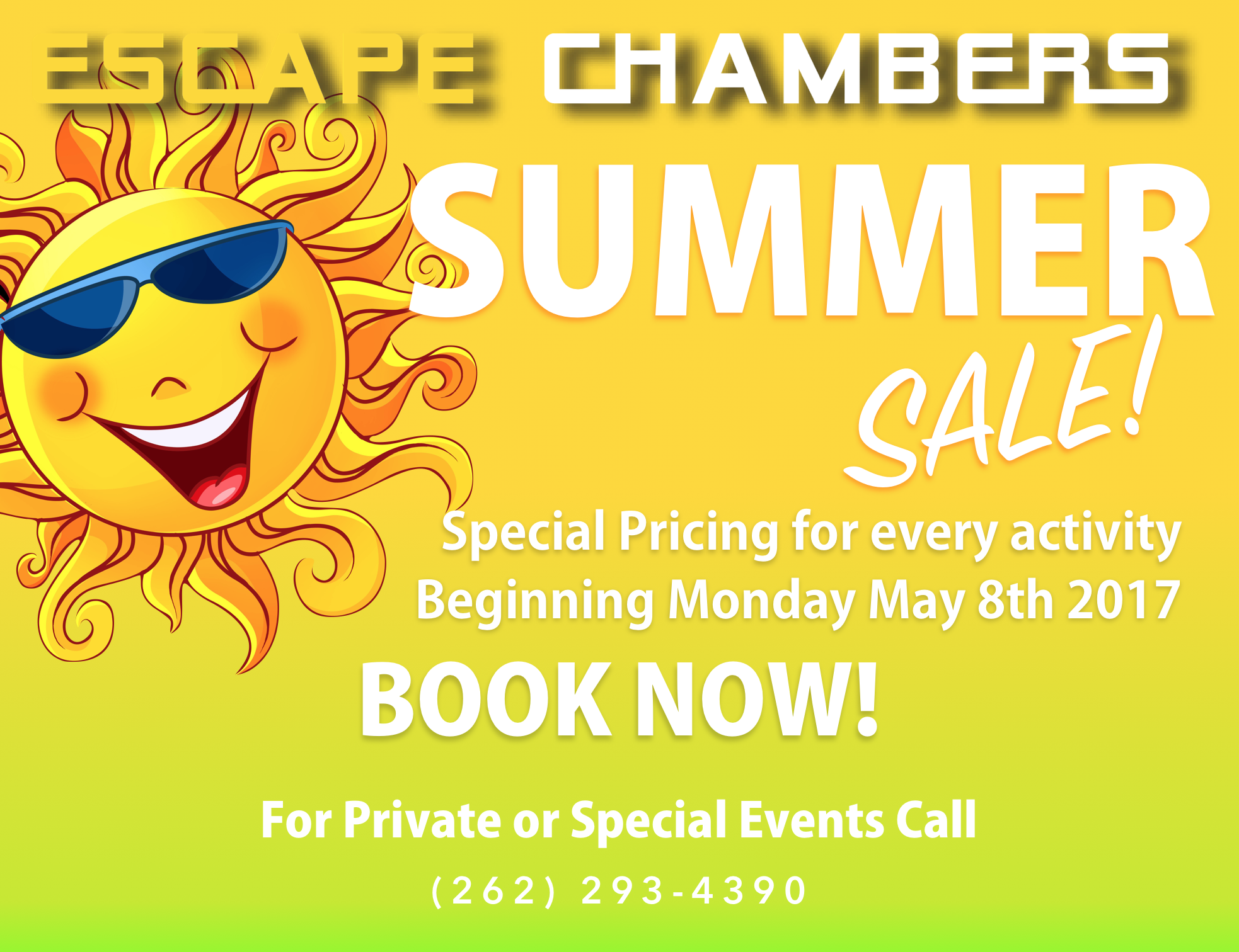 Escape Chambers Summer Sale